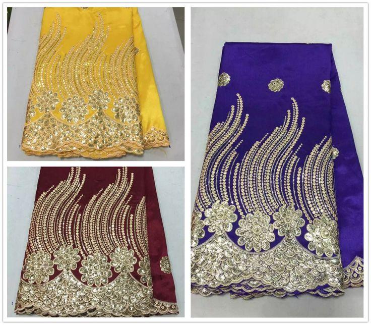George africano tela de encaje 2016 de la alta ultimas nigeriano tela de encaje frances para las mujeres vestidos de noche5 yard