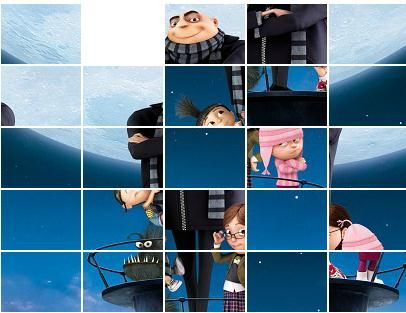 simple sliding puzzle - aim is to get the squares in the right location to create a full picture.