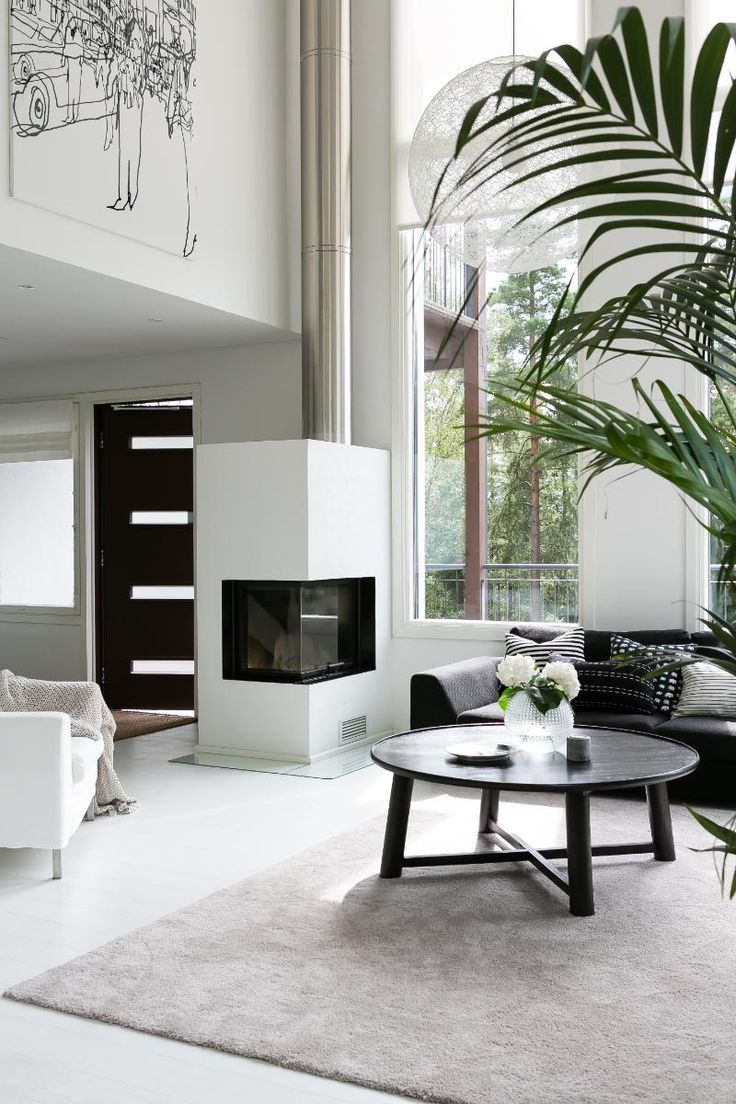 In summer the natural light will create a beautiful light living space. In winter the fireplace will keep you warm. #Home #HomeInspiration #Livingroom