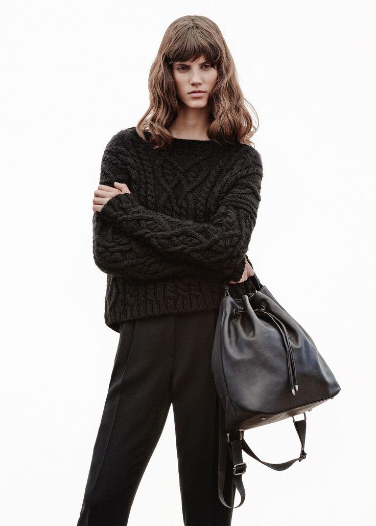 Pullover lana trecce