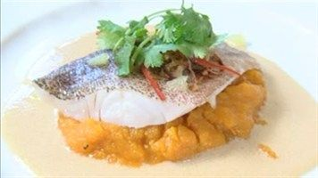 Steamed Coral Trout with Lime & Coconut Sauce and Gingered Sweet Potato Puree - LifeStyle FOOD pete evans