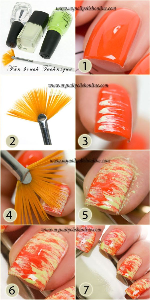 Nail Art Sunday – Fan Brush Technique Tutorial