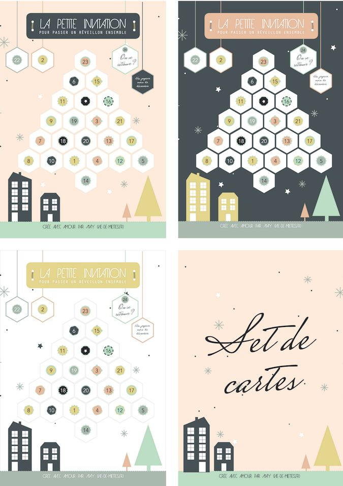 17 best ideas about carte invitation on pinterest carte - Cartes de noel a imprimer ...