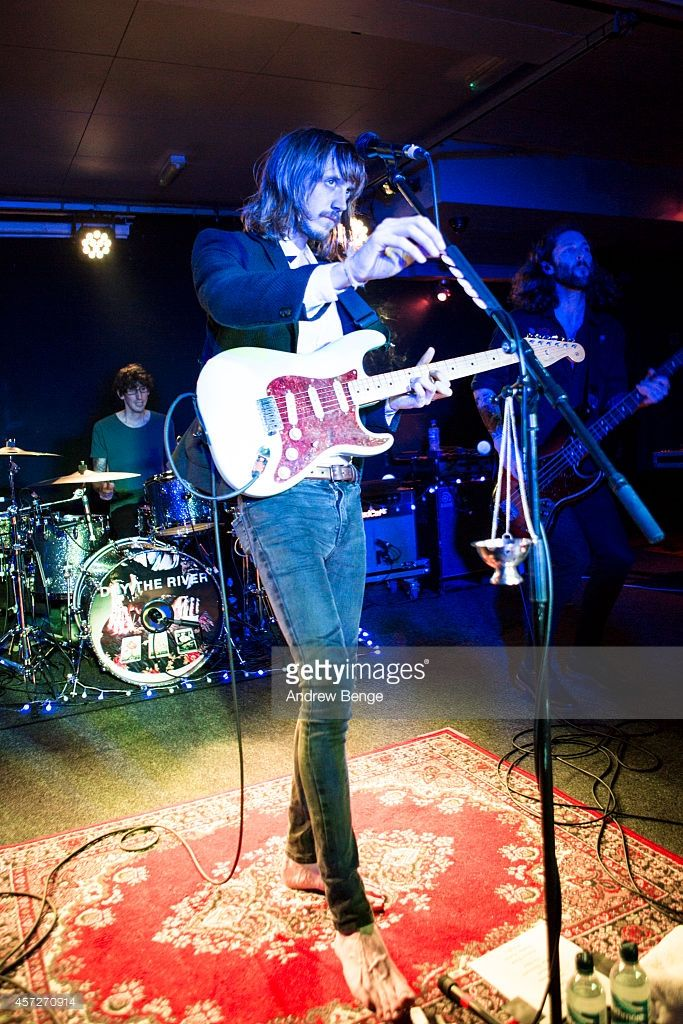Peter Liddle of Dry The River performs on stage at The Wardrobe on October 15, 2014 in Leeds, United Kingdom.