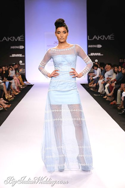 Abdul Halder sheer gown for cocktail evenings