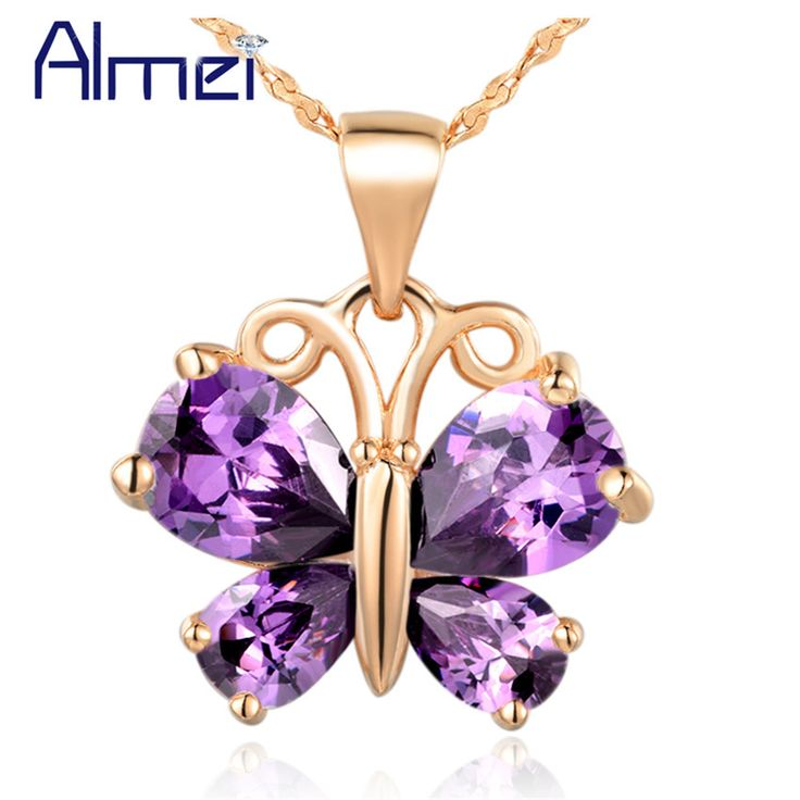 Find More Pendant Necklaces Information about Almei Animal Rose Gold Plated Pendant 925 Sterling Silver Sobretudo Feminino Butterfly 2016 Fashion Jewelry for Women Joias N795,High Quality jewelry organization,China jewelry lot Suppliers, Cheap jewelry comment from ULove Fashion Jewelry Store on Aliexpress.com