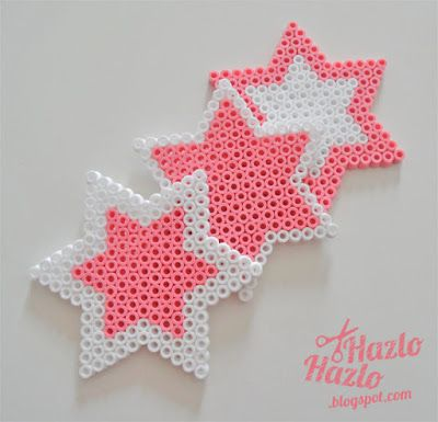 Estrellas hama beads.