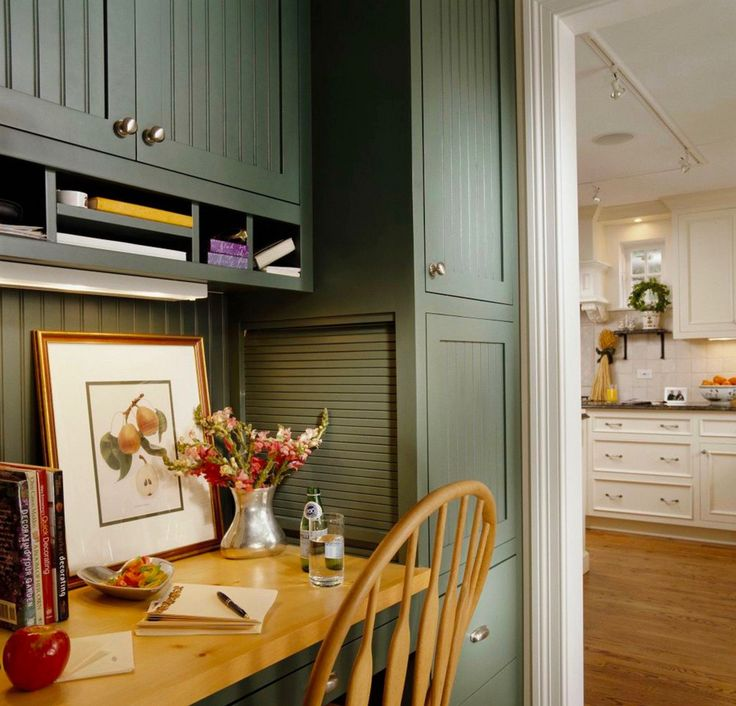 Benjamin Moore Caldwell Green Cabinets For Island In