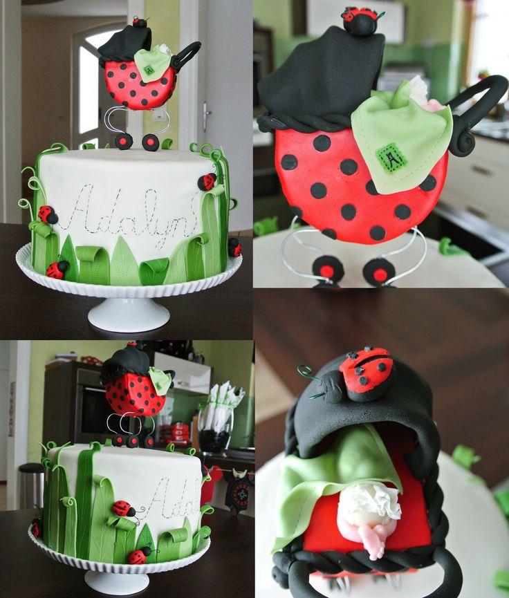 best ladybug cakes images on   ladybug cakes, ladybug, Baby shower invitation