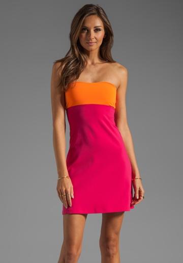 SUSANA MONACO Two Tone Tube Dress in Orange Crush/Glam at Revolve Clothing - Free Shipping!