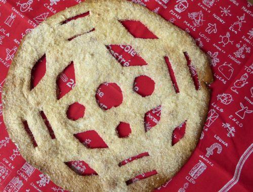 On découpe une galette de blé, on cuit, on croque... c'est très bon!