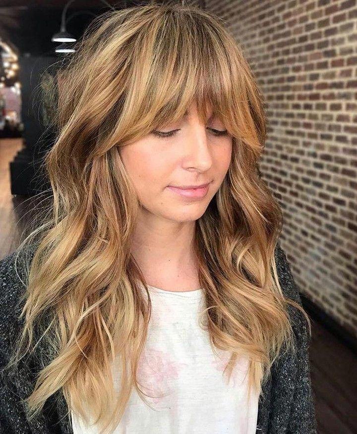 Instagram Post Added By Cosmoprofbeauty Our Curtain Bangs Hairoftheday Goes To Hairbynadja For This Mod Long Shag Haircut Long Hair With Bangs Long Thin Hair