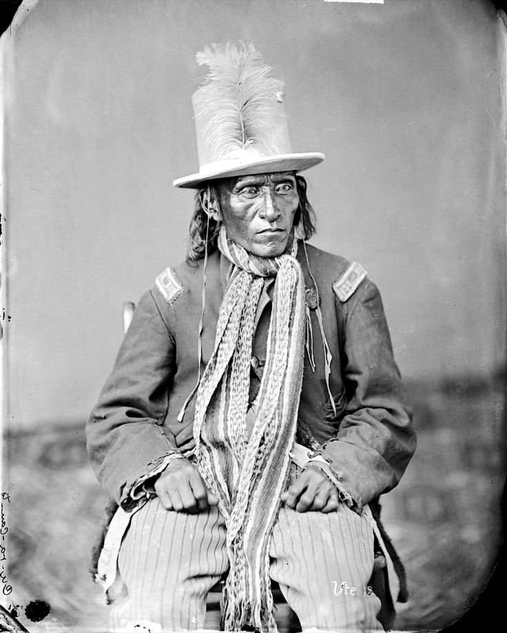 Cu-Ra-Can-Te, Ute, in Partial Native Dress - 1873