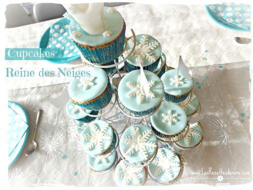 cupcakes reine des neiges