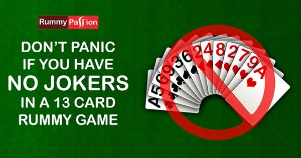 No Jokers in Rummy! Still you can play. Here's how...  #IndianRummy