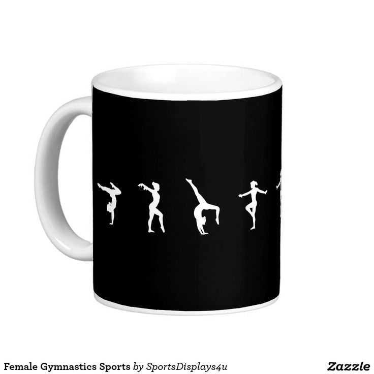 Female Gymnastics Sports Basic White Mug