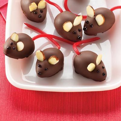 Peanut Butter Christmas Mice Recipe from Land O'Lakes