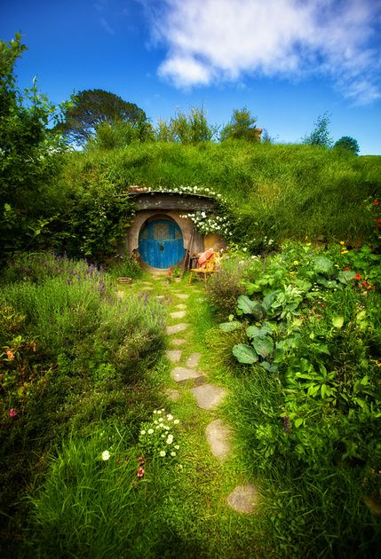 This is the movie set from The Hobbit films in New Zealand.  This is one of the hobbit holes.