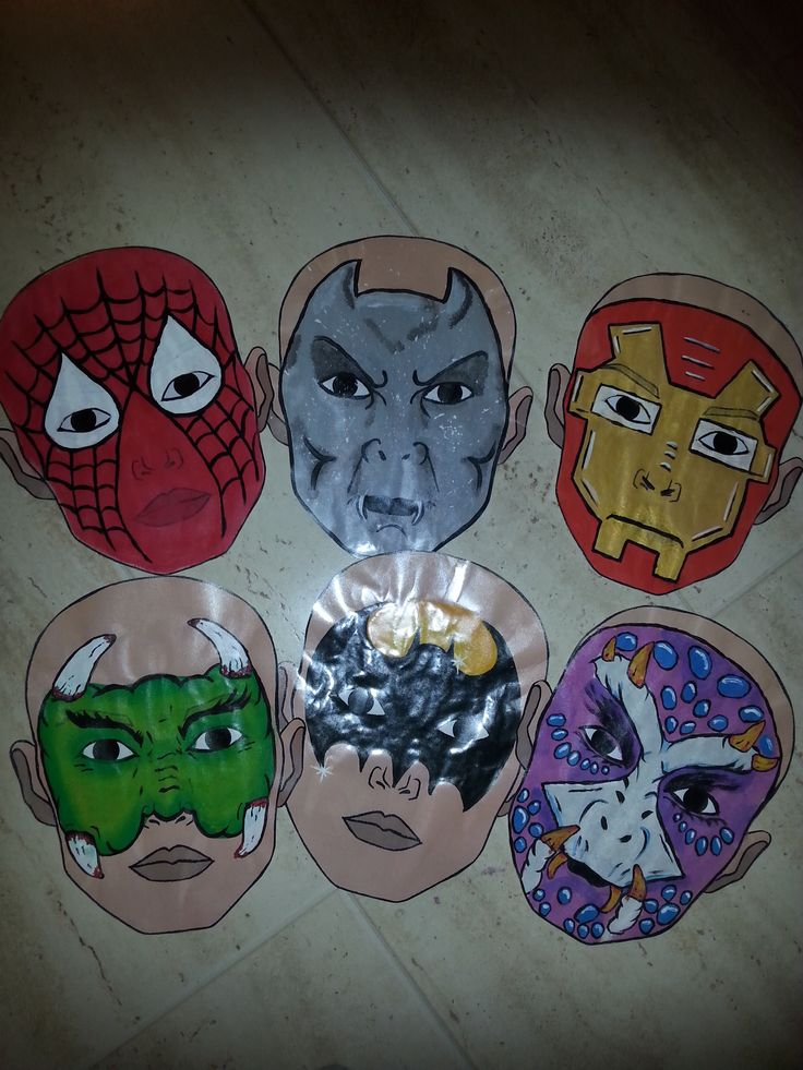 Animal face paint board - inpired by Wolfe brothers