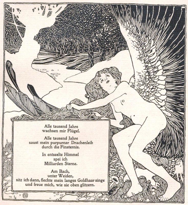 Kolo Moser, Ver Sacrum, 1898, No. 11, poem by Arno Holz