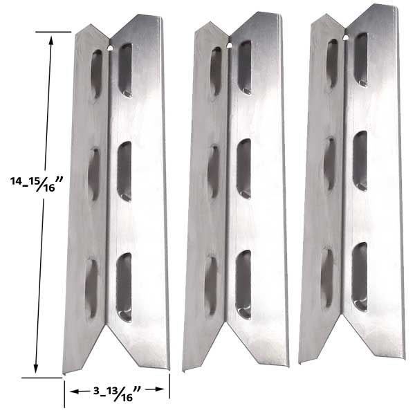 3 PACK KENMORE 146.16198210, 146.16222010, 146.23673310, 146.23680310, 640-03982839-7 STAINLESS HEAT SHIELD Fits Compatible BBQ-PRO Models : 146.2367631