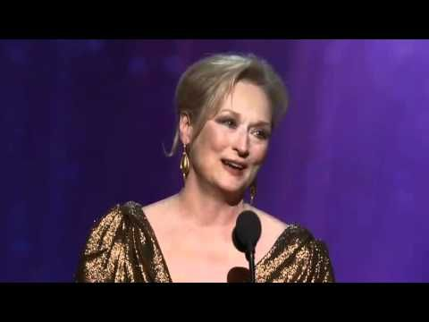 Meryl Streep's Oscar win and speech for Best Actress for The Iron Lady 2012
