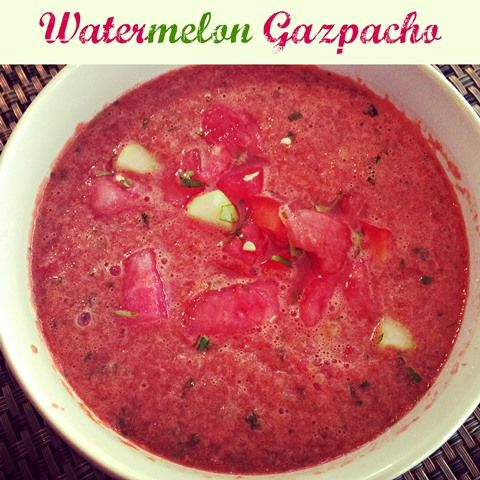 The Most Delicious Watermelon Gazpacho...EVER! - via FoodConfidence.com
