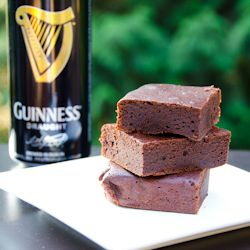 Not quite cakey, not quite fudgy: Guinness brownies w/ espresso powder.
