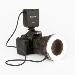 Ring Light is a budget friendly ring flash and constant light that works well with your Canon or Nikon DSLR camera.