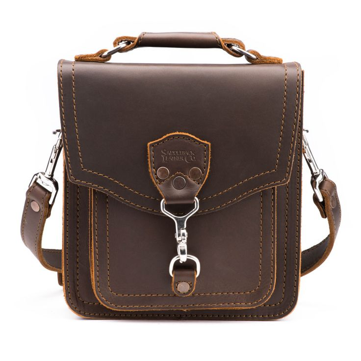 Front Pocket Pouch - Small Messenger Bag | Saddleback Leather Co.