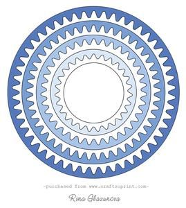Wavy Circle Frames Set on Craftsuprint - View Now!
