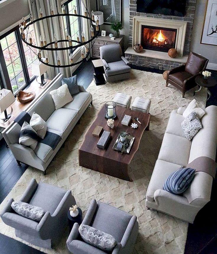 48 Comfortable Family Room Design Ideas