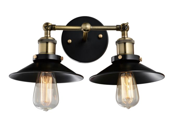 Lucretia Industrial Vintage Double Wall Lamp