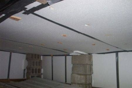 Mobile home after foam installation was added under the flooring