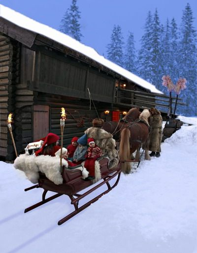 sleigh ride in Norway