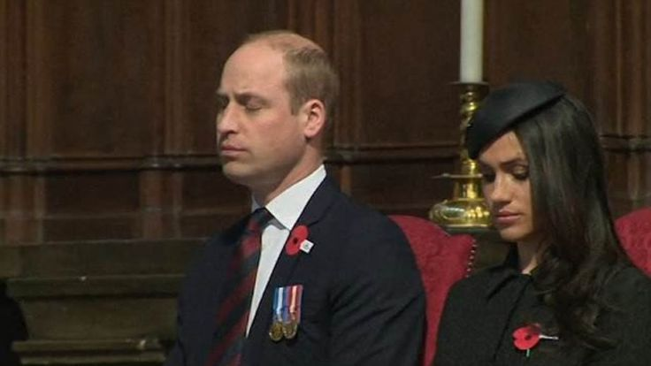 Prince William struggles to keep his eyes open during service