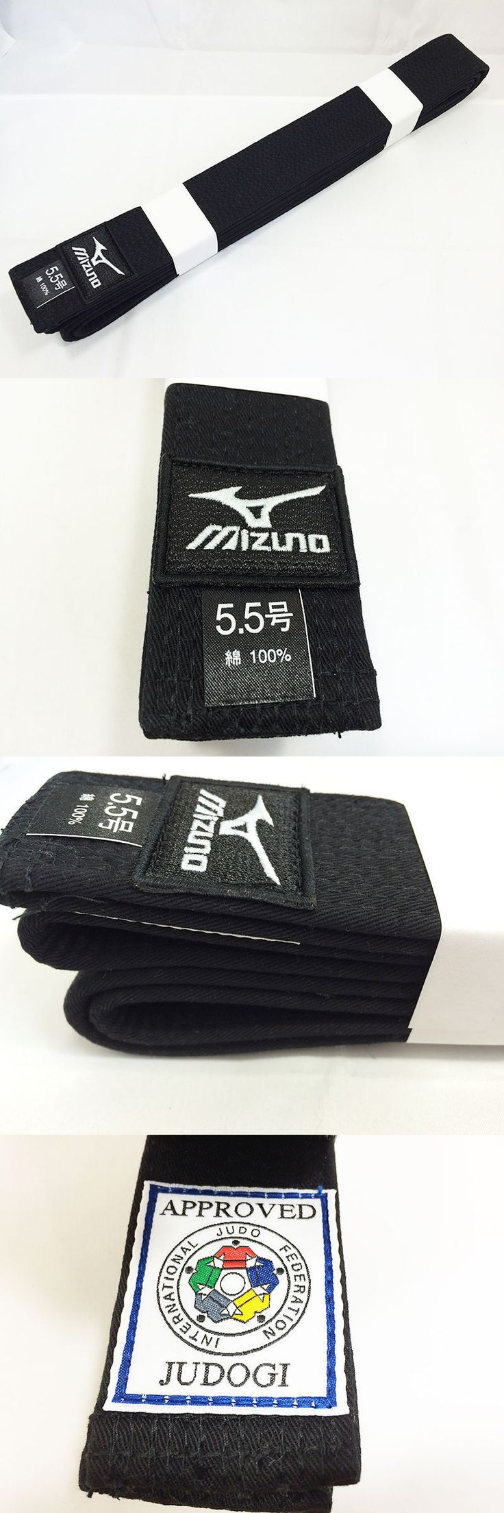 Belts and Sashes 73981: Mizuno Judo Judogi Black Belt Kuro Obi Ijf Official Patch Model From Japan BUY IT NOW ONLY: $54.0