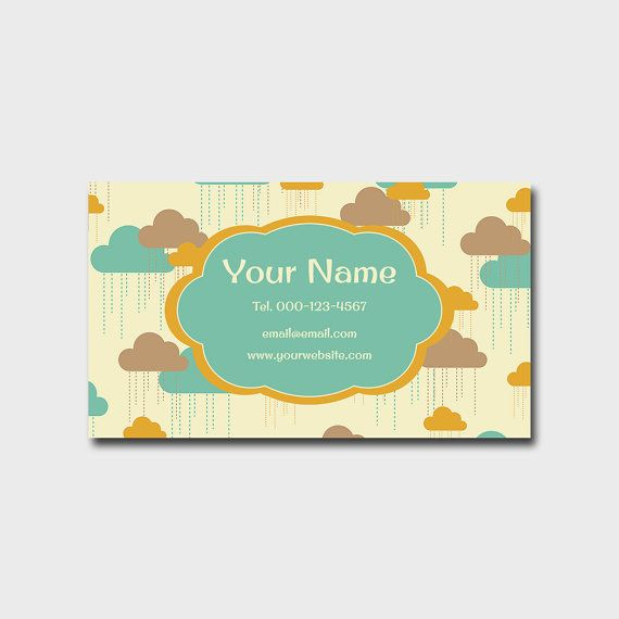 49 best printable business cards images on pinterest printable printable business card design retro cloud business card design printable stylish and memorable bright business card fun business card reheart Images