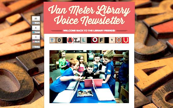 Smore.  A free newsletter creator.  Follow the link from this article.