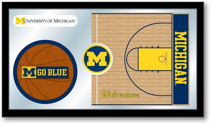 Michigan Wolverines Basketball Team Sports Mirror at SportsFansPlus.com. Visit website for details!