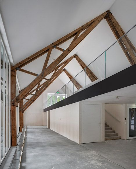 92 best arch elements trusses images on pinterest for Exposed roof truss design