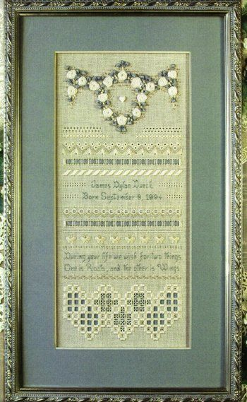 Heirloom Birth Sampler Cross Stitch Pattern