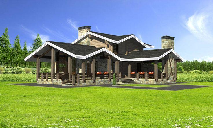 Сборный дом «Навля» в стиле шале  (de HOMIFY.RU)