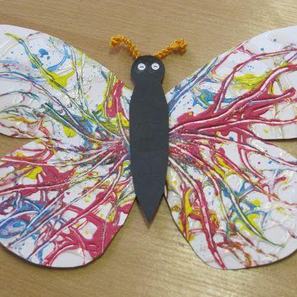 Motýl - tekuté lepidlo a temperky