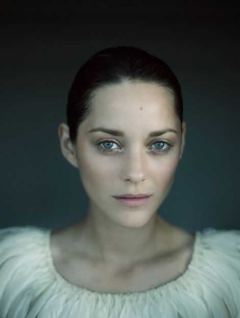 Sometimes all a photographer needs is a beautiful face:    French actress Marion Cotillard photographed by Patrick Swirc.