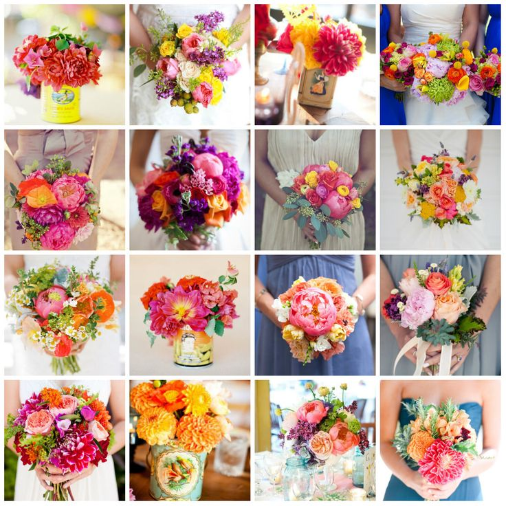 Elegant Mexican Theme Inspired Wedding Bouquets