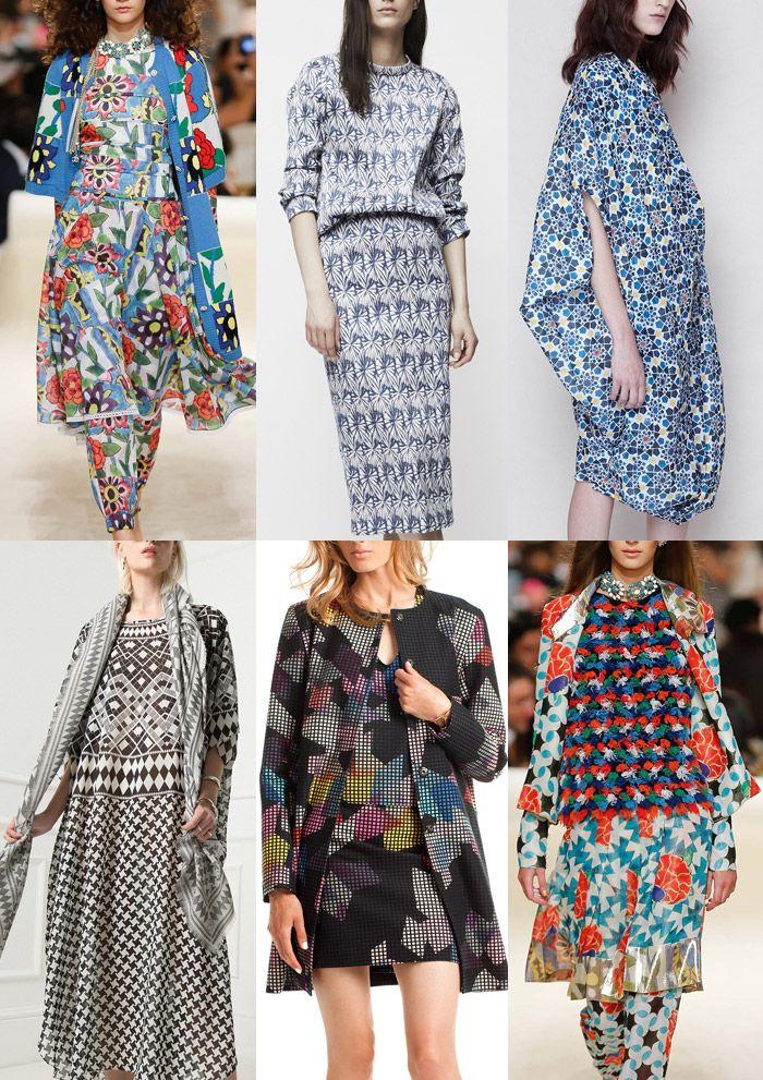 Resort 2015   Catwalk Print  Pattern Trend Highlights Chanel / Wes Gordon / Tia Cibani /Temperely / Tina Turk / Chanel
