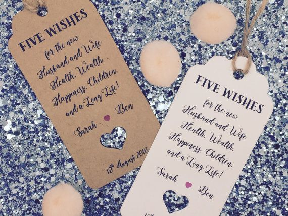 Handmade Personalised Gift Tag For Sugared Almond Wedding Favour With A String Packed Separately