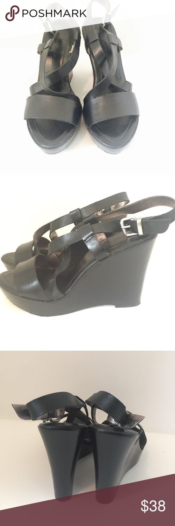 "💞Banana Republic Wedges💞 / Size 6 💞Banana Republic Wedges💞 / Size 6 / Brand New! never worn! / Wedge measures 4"" off the ground at highest point/ Genuine Leather/ Great pair of shoes! Banana Republic Shoes Wedges"