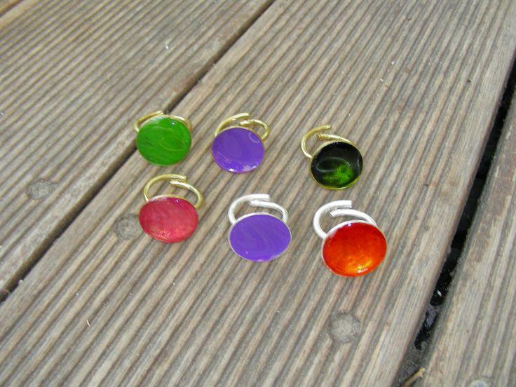handmade silverplated rings